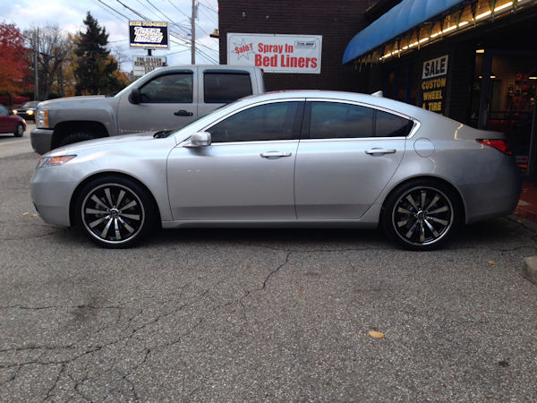 2013 Acura TL with 20 inch Motive Alloy wheels and Nitto NT555 tires
