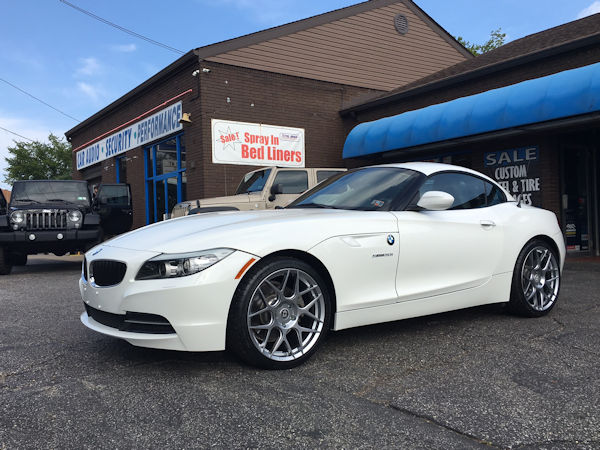 2004 BMW Z4 with 19 inch HRE FF01 wheels and Michelin Pilot Super Sport tires.