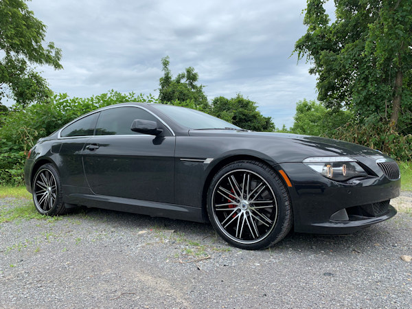 BMW 6- series with 20in staggered asanti wheels