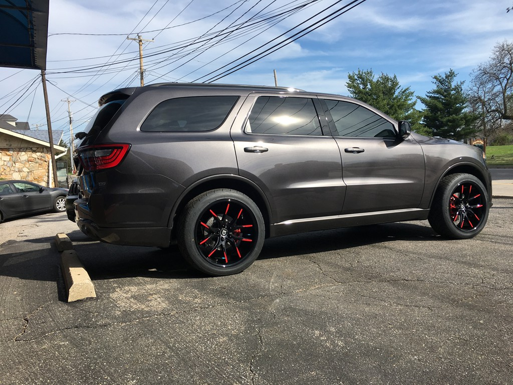 2017 Dodge Durango With 22 Inch Lexani R Twelve Wheels Avery Vinyl Wred Tips And Nitto 420s Tires