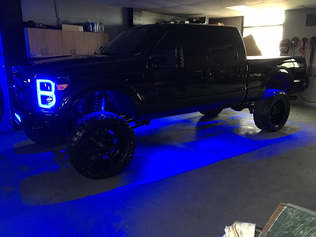 Ford photo gallerytotal image auto sport pittsburgh pa 2013 ford f 250 in for oracle led halo headlights led concepts light bar rave sport hid kit rigid industries rock lighting custom blue tinting on wheels aloadofball Gallery