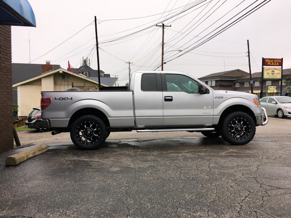 2014 Ford F-150 with Zone Offroad leveling kit and 20 inch Fuel Offroad Krank wheels with 295/60/20 Nitto Ridge Grappler tires