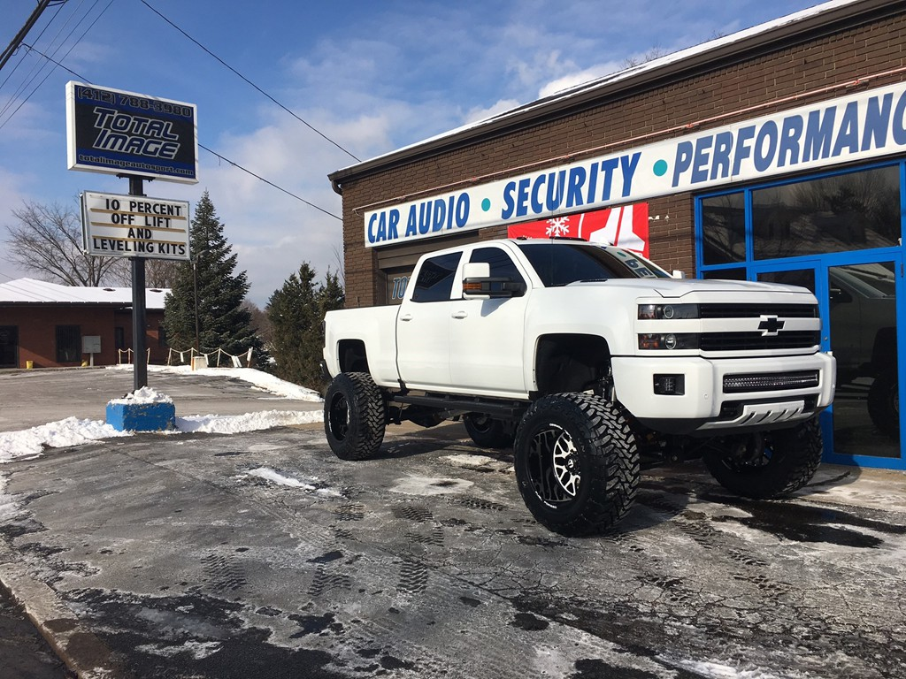 Lift kits photo gallery total image auto sport pittsburgh pa 2016 chevy silverado 2500hd with 12 inch cognito lift kit 22x14 fuel forged ff19 wheels and 40x1550x22 toyo open country mt tires publicscrutiny Image collections