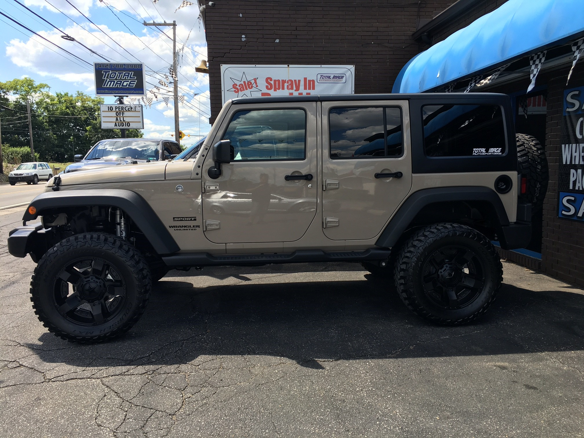 Marvelous 2016 Jeep Wrangler With A 4 Inch Lift And 20x9 KMC XD Rockstar II Wheels  And 35 Inch Mastercrsft MXT Tires ...