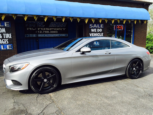 2015 Mercedes S550 with TSW Sochi wheels (staggered figment) with Nitto tires