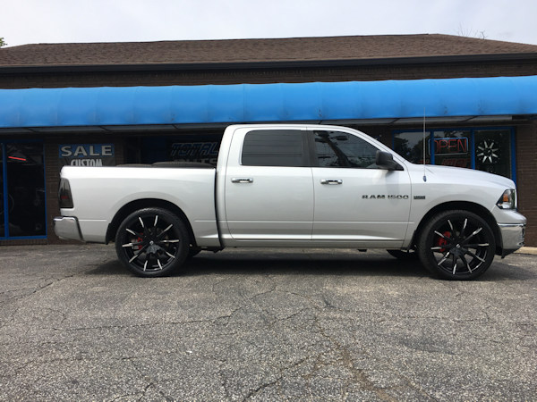 2015 Ram 1500 with Ground Force rear lowering kit and 24 inch Lexani CSS15 wheels and 285/40/24 Atturo tires
