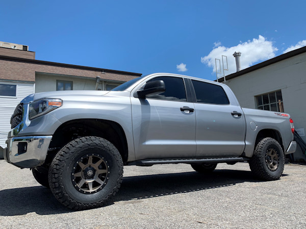 Tundra with BDS lift and Fox coilover setup, icon wheels and bfg tires