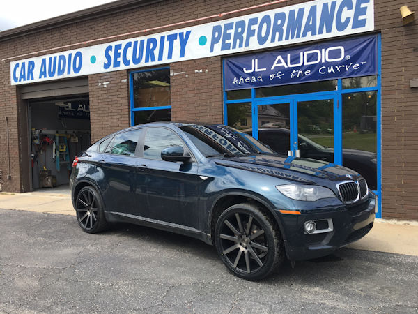 2013 BMW X6 with 22 inch staggered (22x9 front & 22x10.5 rear) DUB Shot Colla wheels with Nitto 420S tires